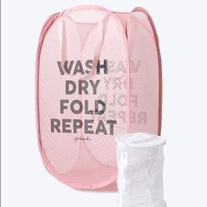 Victoria's Secret Pink Laundry Basket &  Wash Bag
